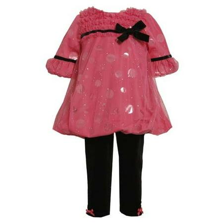 Bonnie Jean Pink Sparkle Dot Pant Set - FINAL SALE CLEARANCE 4-one - Bonnie Jean Halloween Tutu