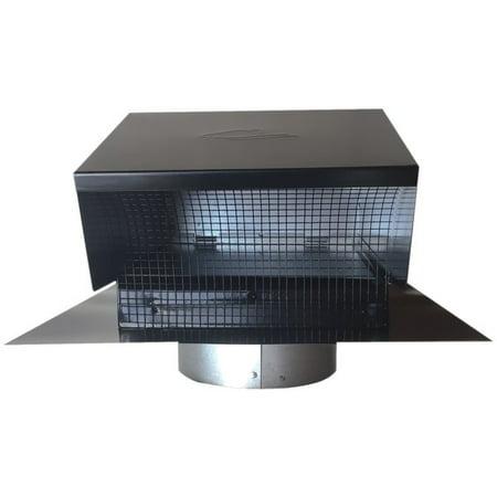 BUILDERS BEST 012633 Black Metal Roof Vent Cap (6
