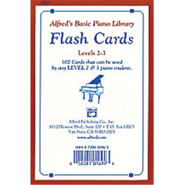Alfred 00-2521 Basic Piano Course- Flash Cards- Levels 2 & 3 - Music Book