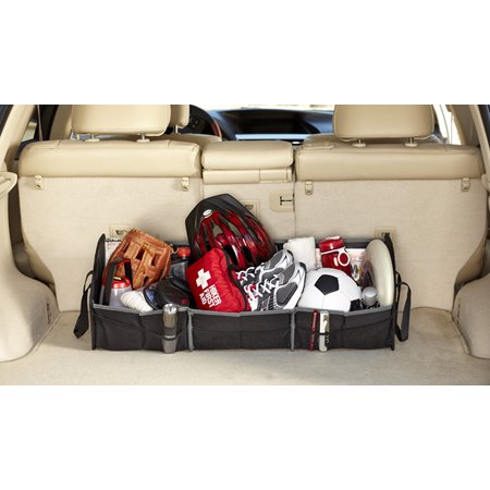 Rubbermaid Large Collapsible Cargo Organizer Bin Car Interior Organization Non-Slip Perfect for Trunk and Groceries