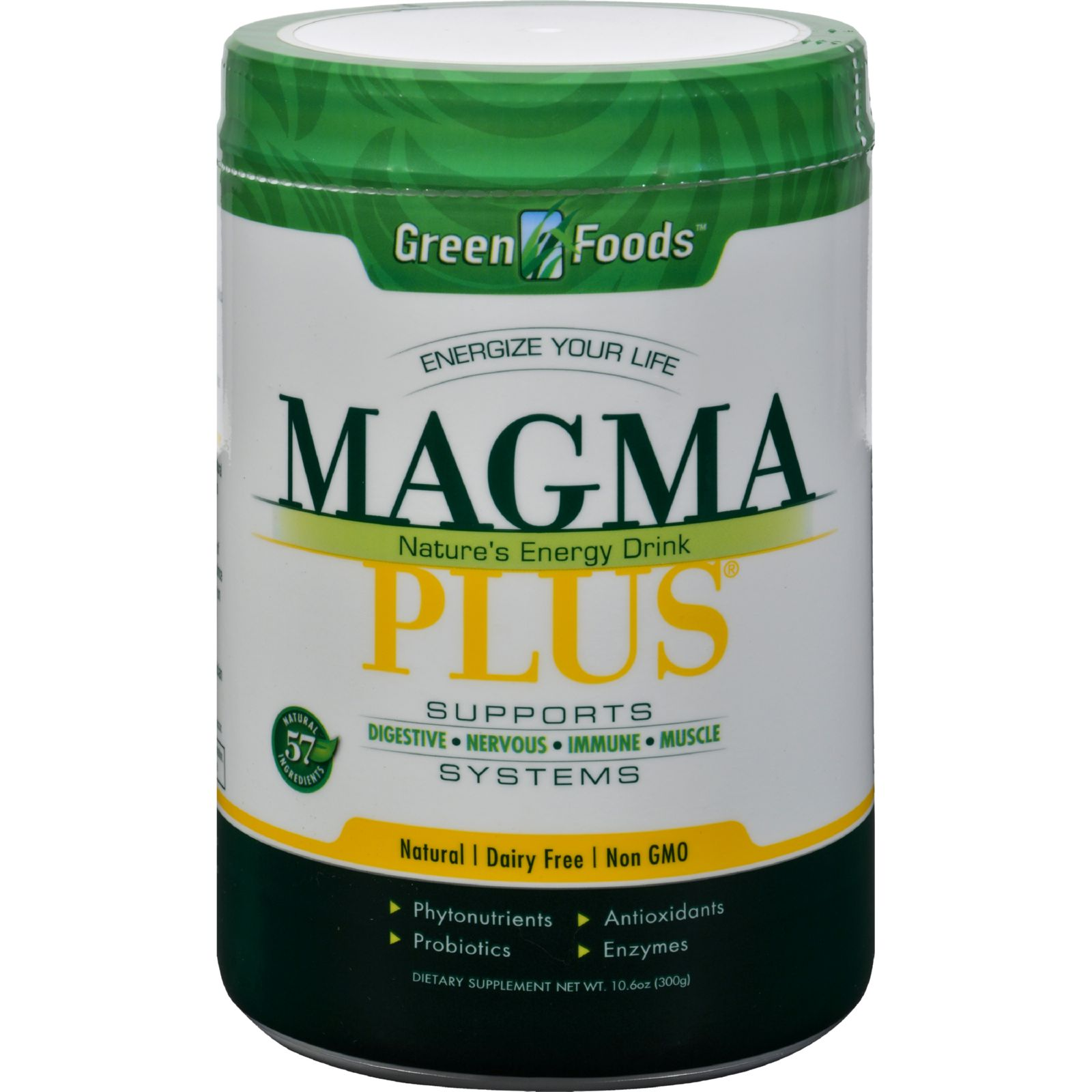 Green Foods Green Foods Magma Plus Powdered Barley Grass Juice, Economy Size, 11 oz
