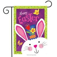 "Easter Greetings Garden Flag Bunny Holiday 12.5"" x 18"" Briarwood Lane"
