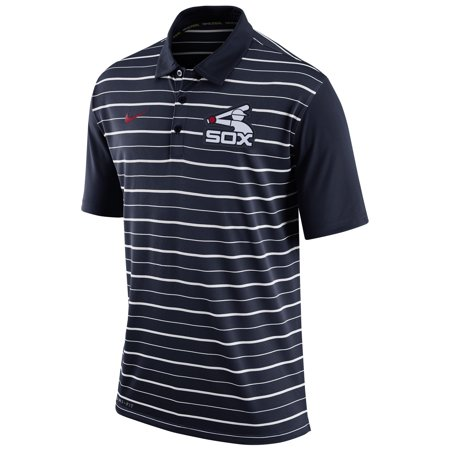 Chicago White Sox Nike Dri-FIT Stripe Polo - Navy -