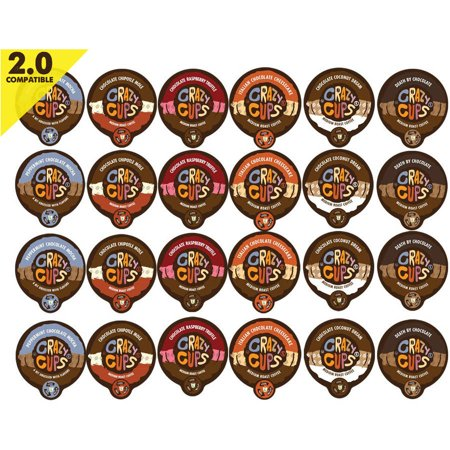 Crazy Cups Chocolate Lovers' Flavored Coffee Variety Single Serve Cups, 24 count](Crazy Cups)
