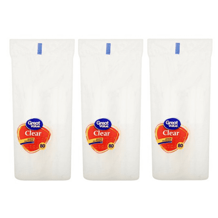 Oz Cup ((3 pack) Great Value Clear Plastic Cups, 9 oz, 80)