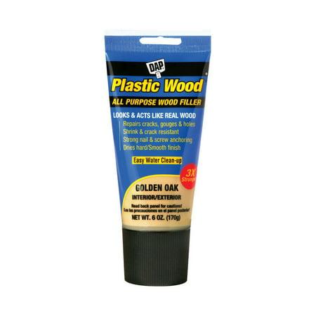 Dap 00582 Plastic Wood All Purpose Wood Filler, Golden Oak, 6 Oz