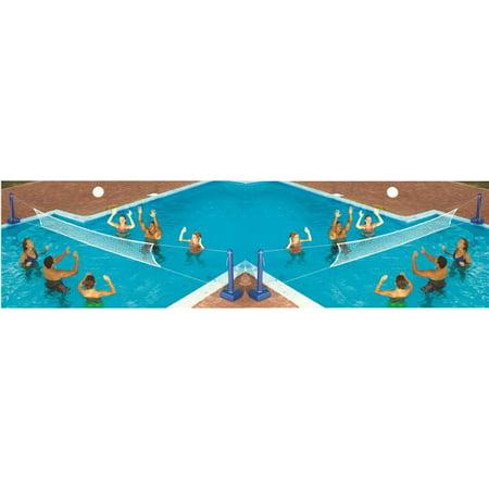 2 Swimline 9186 Cross Inground Swimming Pool Fun Volleyball Net Game Water Sets