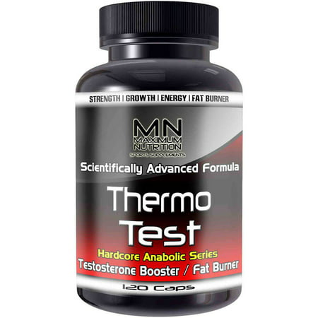 Maximum Nutrition Thermo Test de testostérone Booster et Fat Burning Complex, 120 count