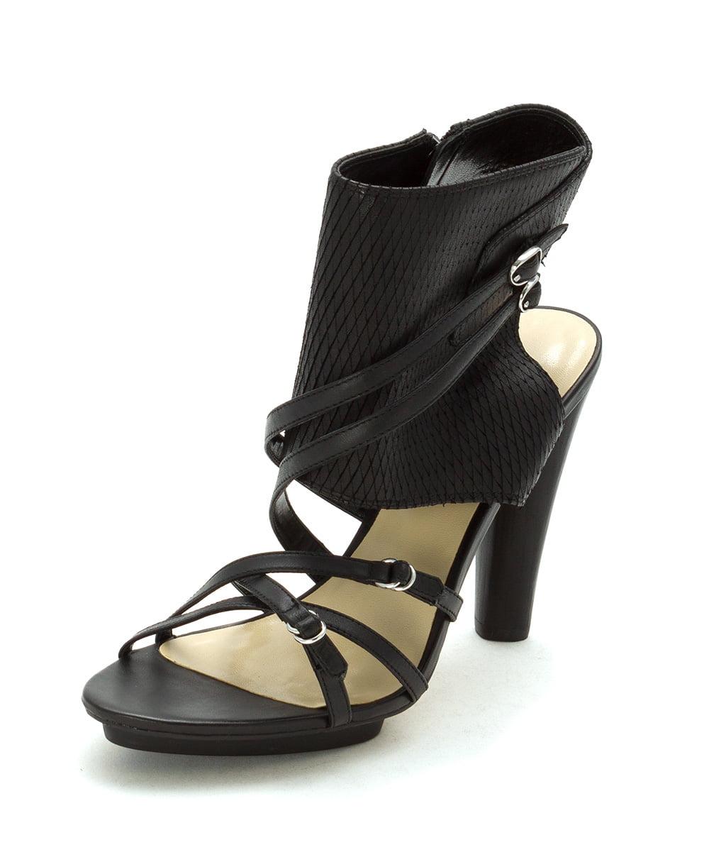 A.B.S. Ankle by Allen Schwartz Womens Caravan Open Toe Ankle A.B.S. Wrap, Black, Size 9.5 9d8804