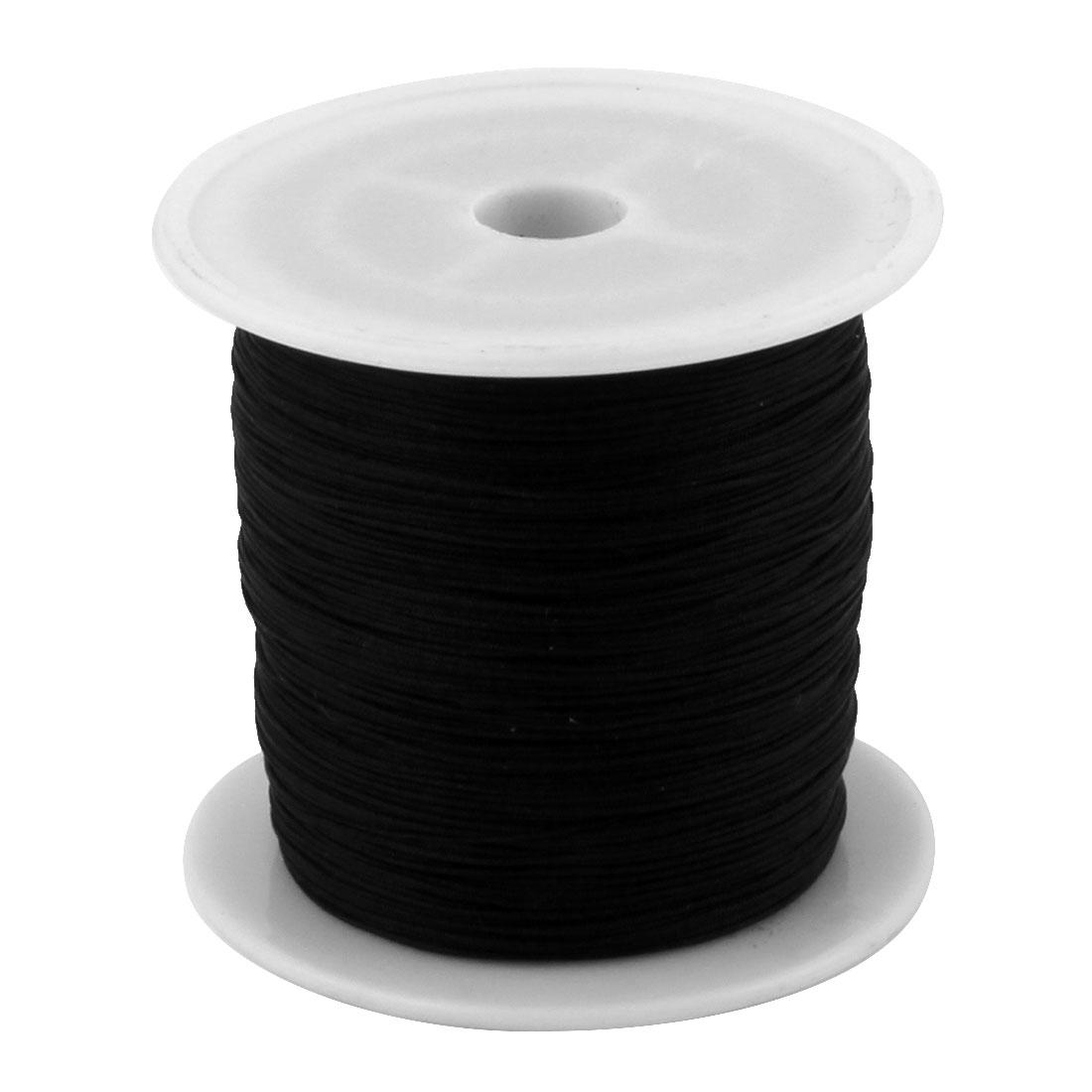 Home Nylon DIY Art Craft Braided Chinese Knot Cord String Rope Black 153 Yards