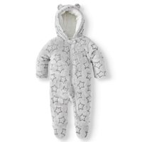 Wonder Nation Baby Boy Fleece Plush Snowsuit Pram