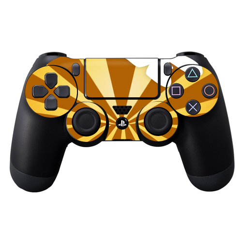 Protective Vinyl Skin Decal Cover for Sony PlayStation DualShock 4 Controller wrap sticker skins Brown Butterfly