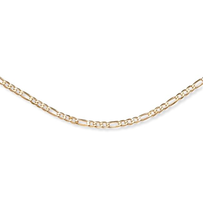 PalmBeach Jewelry 49020 Men's 18k Yellow Gold Over Sterling Silver Figaro-Link 4. 5 mm Necklace Chain 20''