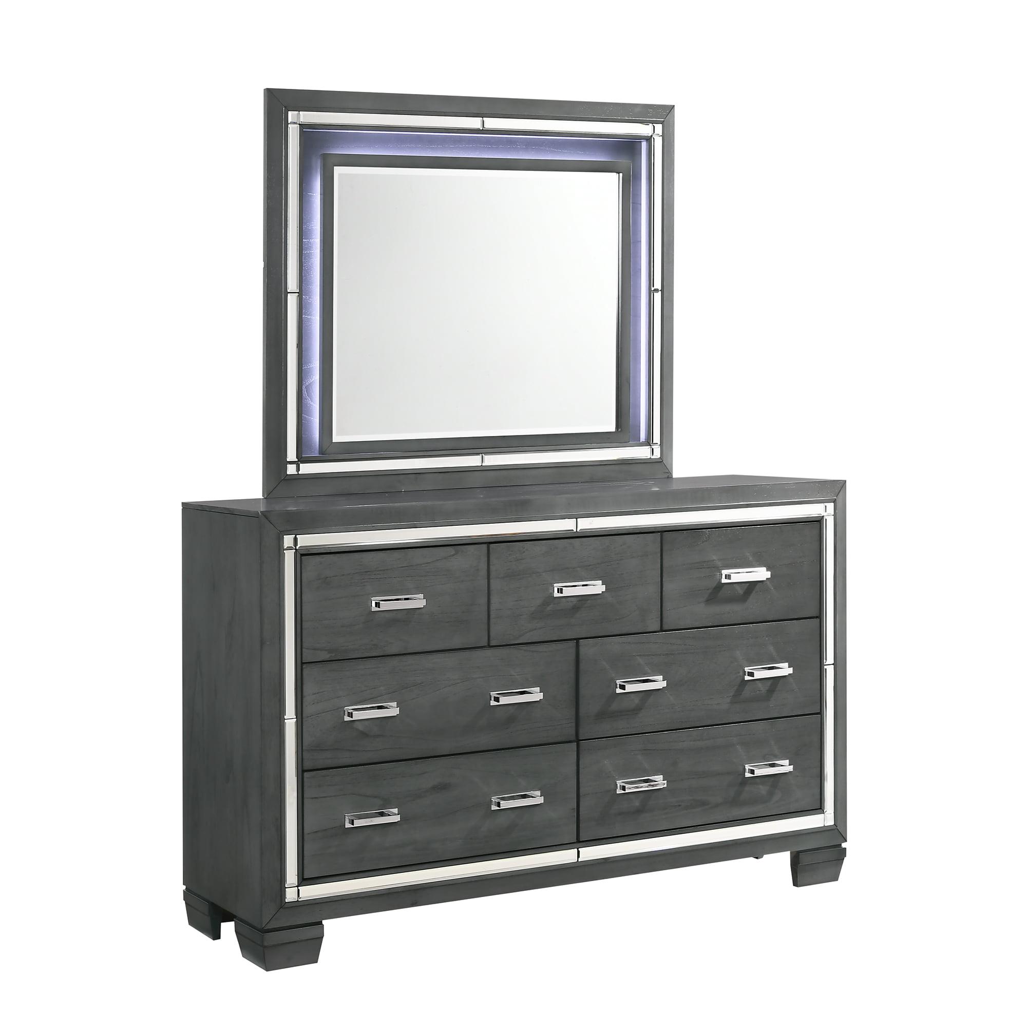 Picket House Furnishings Kenzie 7-Drawer Dresser w/ Mirror Set