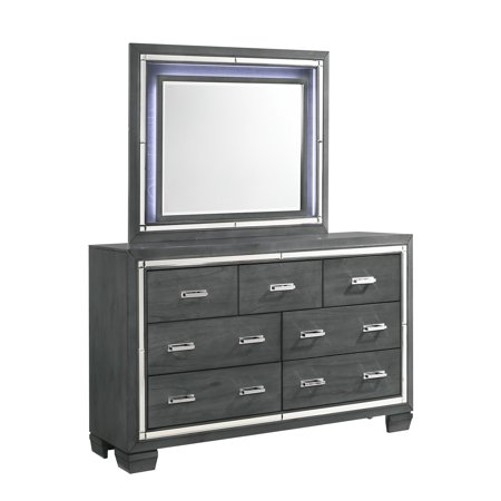Picket House Furnishings Kenzie 7-Drawer Dresser with Mirror Set