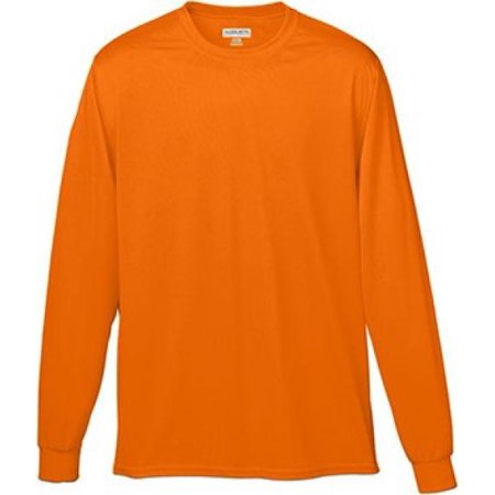Augusta Sportswear MEN'S WICKING LONG SLEEVE T-SHIRT 2XL Power Orange