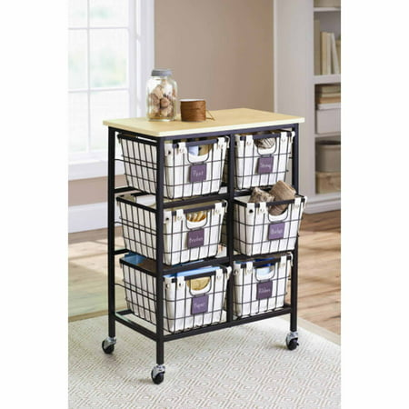 Crafting Store (Better Homes and Gardens 6 Drawer Wire Cart,)
