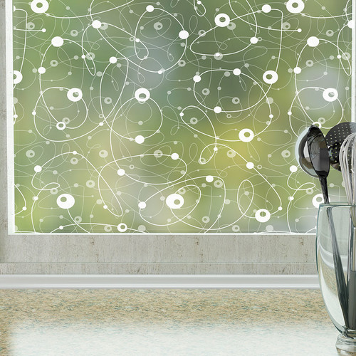 Stick Pretty Atomic Retro Privacy Window Film