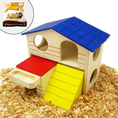 Alfie Pet by Petoga Couture GARI Wood Hut for Small Animals like Dwarf Hamster and Mouse Size: Large by