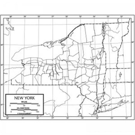 New York Outline Map Paper Walmart Canada