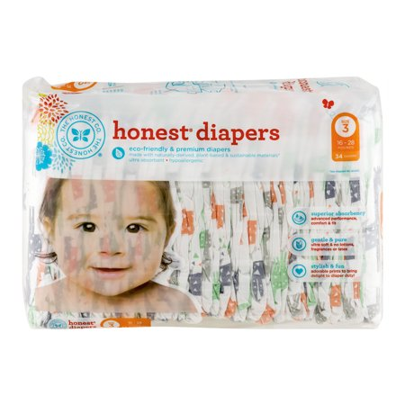 The Honest Co  Honest Diapers Size 3   34 Ct
