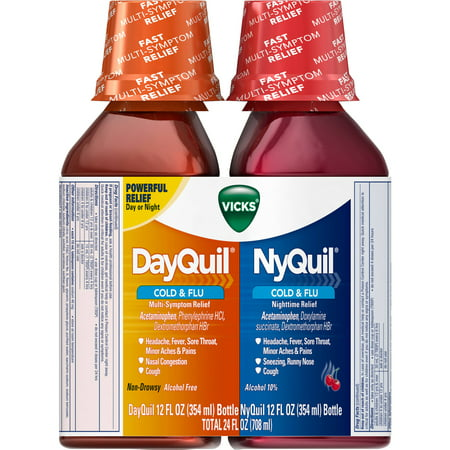 Vicks DayQuil and NyQuil, 24 FL OZ (Pack of (Dayquil Liquid)