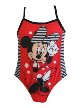 d1a193d6debf0 Product Image Disney Little Girls Red Minnie Mouse One Piece UPF 50+ Swimsuit  Girls