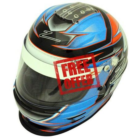 Zamp RZ-42Y Youth Snell CMR2016 Helmet Orange/Blue 54cm - Xxx Large Snell Helmet
