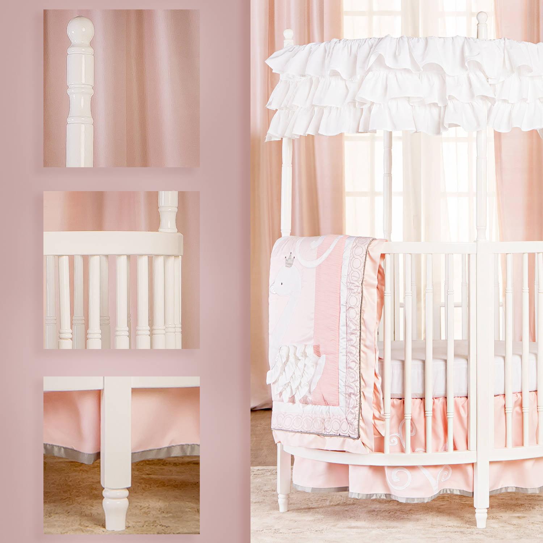 Circular Crib Bedding Dream On Me Sophia Posh Circular Crib White Walmartcom
