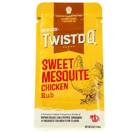 (2 Pack) Twist'd Q Caveman Cuisine Chicken Rub, 6
