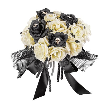 Creepy Rose Bouquet for Scary Bride Costume or Indoor Home Halloween Décor
