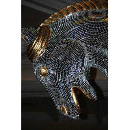 Canvas Print Sculpture Horse Mosaic Tiles Art Mirrors Stretched Canvas 10 x 14