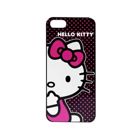 Hello Kitty Apple Ipod (Apple iPhone SE / 5 / 5S Case, Sanrio [Hello Kitty on Pink Polka Dots] Hard Back Cover - KT4489PBD )