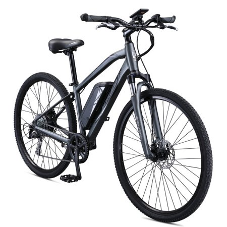Schwinn Sycamore 350 Watt Hub-Drive 8-Speed Mountain/Hybrid Electric Bicycle, Medium