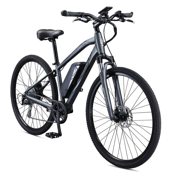 Schwinn Sycamore 350 watt hub-drive, mountain/hybrid, electric bicycle, 8 speeds, Mens size medium