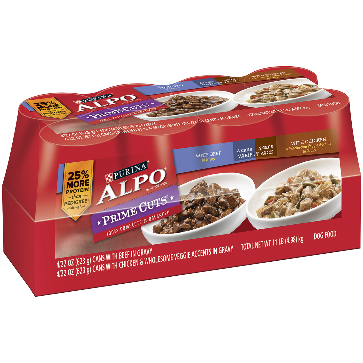 Purina ALPO Prime Cuts Variety Pack Dog Food 8-22 oz. Cans