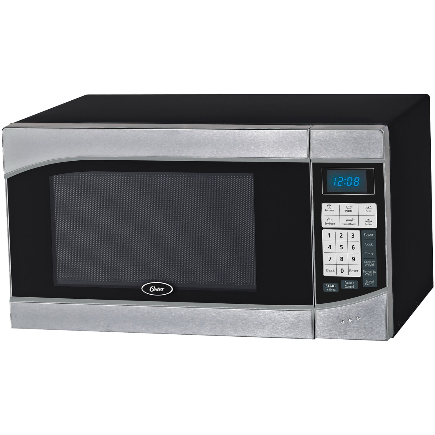 Oster Compact Size 0 9 Cu Ft 900w Countertop Microwave Oven With Stainless Steel Door Trim Walmart Com