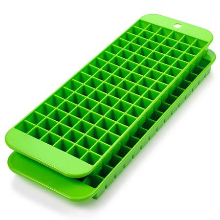 2-Pack Mini Ice Cube Mold Trays – 90 Square Shaped Holes - BPA-Free, Food-Grade ()