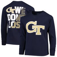 Youth Russell Athletic Navy Georgia Tech Yellow Jackets Graphic Long Sleeve T-Shirt