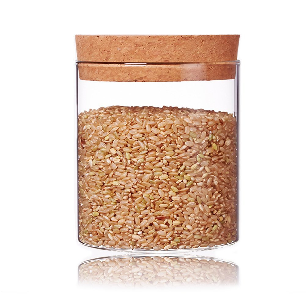 Glass Storage Container High Borosilicate Glass Airtight Food