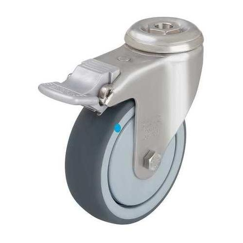 GRAINGER APPROVED Kingpin Swivel Caster,Therm Rubber,5 in.,264 lb., LKRXA-TPA 126KD-FI-FK