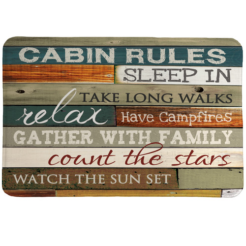 Laural Home Cabin Rules Mat