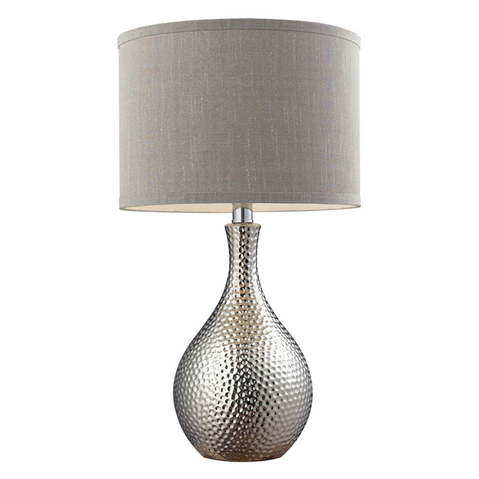 Dimond Lighting Hammered Chrome Plated Table Lamp Walmartcom