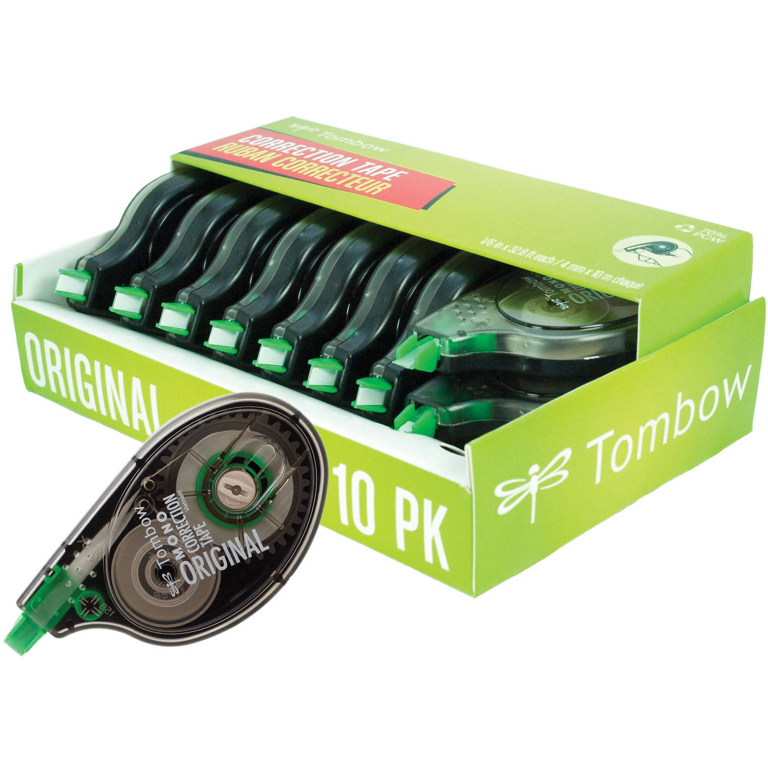 Tombow Mono Original Correction Tape, 10-Pack