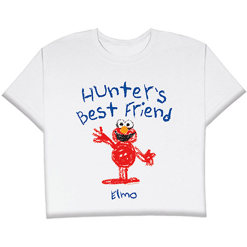 Personalized Child's Best Friends Elmo T-shirt, Size 7