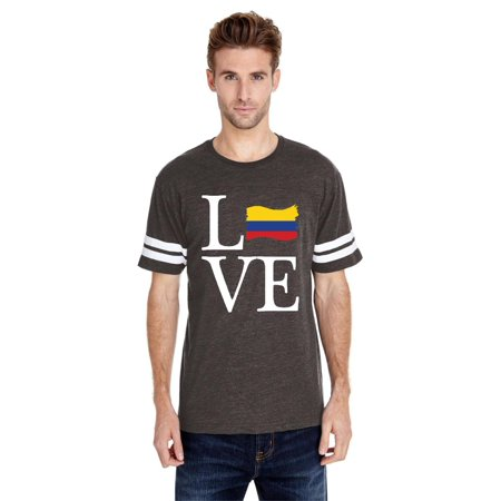 Colombia Home Jersey (Love Colombia Men Football Fine Jersey Tee)
