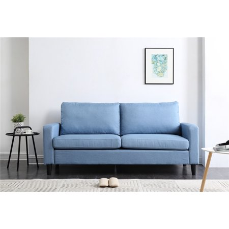 74u0022 Track Arm Sofa with Linen Textured Fabric