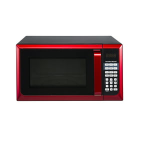 Microwave Oven Red Stainles