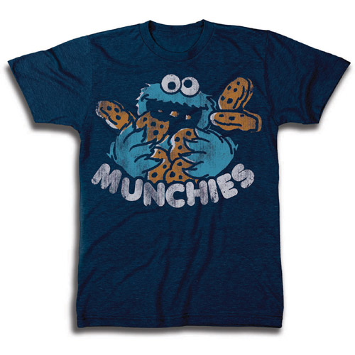 Big Men's Cookie Monster  Munchies Graphic Tee, 2XL