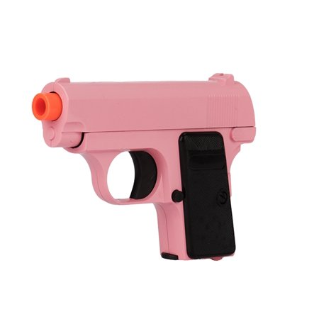 PINK UKARMS G1 HEAVY METAL SPRING POWERED AIRSOFT PISTOL GUN + 6MM .12GRAM BBS ()